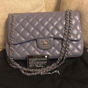 0dfb384e6684c9 CHANEL. Chanel Classic Jumbo Lambskin Double Flap Bag
